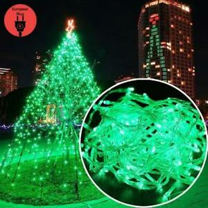 10m 100LED Green Christmas Light String Electric Powered Halloween Decoration