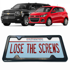 LICENSE PLATE FRAME car tag holder mount bracket mounting relocator plain chev