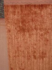 UPHOLSTERY FABRIC IN CORAL PINK CHENILLE armchair settee Sofa SEATS O41B