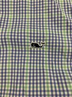 Vineyard Vines X-Large XL Slim Fit Tucker Shirt Blue Green Plaid