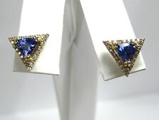 Tanzanite Earrings 14K white Gold Halo Diamond CERTIFIED Natural AAA Free $2,462