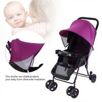Prams Stroller Pushchair Baby Stroller Umbrella Sun Shade Parasol Canopy Cover