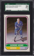 1975 OPC WHA #100 GORDIE HOWE SGC 96 MINT 9 Houston AEROS O-PEE-CHEE tough!
