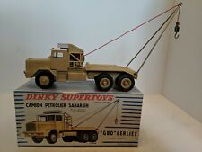 Dinky Toys 888 GBO Berliet Camion Petrolier Saharien, Mint, With Box