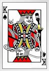 Party King Playing Card Funny White Wood Framed Poster 14x20