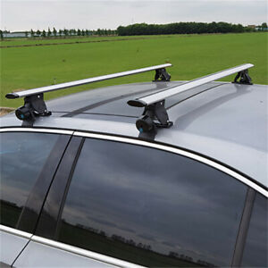 """Universal Roof Rack Adjustable 48"""" Aluminum Cargo Carrier Rooftop Cross Bars"""