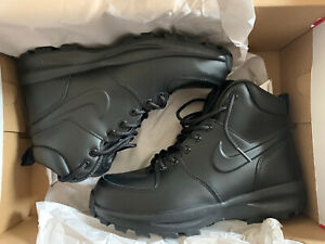 Nike Manoa Leather Boots - Size 7.5, Black, BNIB