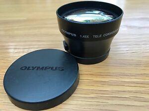 OLYMPUS DIGITAL CAMERA: 1.45X  TELE CONVERSION LENS 46mm  added attachment ring