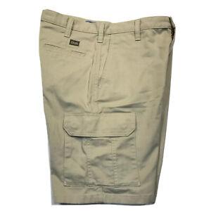 Cintas Men's Work Cargo Shorts Pockets Uniform 370-62 Khaki tan Size: W34 L22