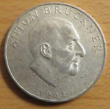 Österreich 25 Schilling 1962, Anton Bruckner, Silber-Gedenkmünze