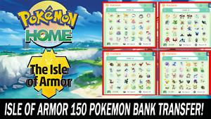 The Isle of Armor DLC Pokemon Pack All 150 Pokemon Shiny!!