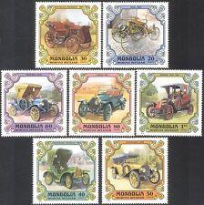 Mongolia 1980 Vintage Cars/Benz/Lancia/Packard/Transport/Motoring 7v set n11590