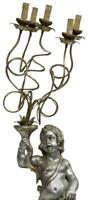 ITALIAN PAINTED FIGURAL STANDING FLOOR LAMP