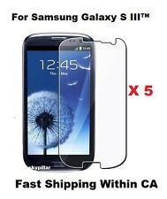 5 X Clear Glossy front Screen Protector Cover Samsung Galaxy S III™ S3 SGH-I747M