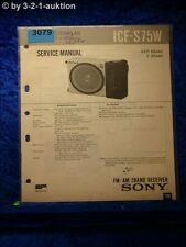 Sony Service Manual ICF S75W 2 Band Receiver (#3079)