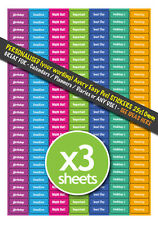 567 PERSONALISED Calendar Planner Diary Office Wall Chart Stickers 25mm x 10mm