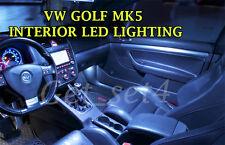 VW GOLF MK5 Interior UPGRADE 2003-2008 WHITE LED BULBS COMPLETE LIGHT SET