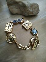 Vintage fifth 5th avenue collections Goldtone bracelet FAC  butler crystals