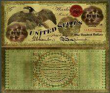 UNITED STATES EAGLE $100 24K GOLD FOIL POLYCARBONATE NOVELTY NOTE CURRENCY NEW!
