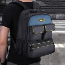 Canvas Electrician Tool Shoulder Bag Hardware Toolkit Backpack 15 Pockets