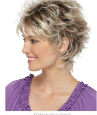 New Women's Synthetic Wigs Layered Short Curly Bloned Mix +free wig cap
