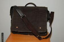 Men's Coach Black Canvas w/ Leather Accents & Bottom Messenger Bag D04M-5724