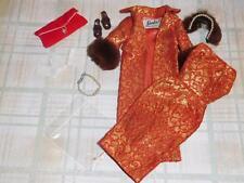 Vintage Barbie Complete Golden Elegance Outfit - #1 Ot Brown Shoes