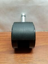Black plastic caster wheel. 2""