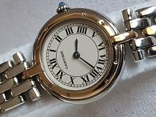 Ladies CARTIER Panthere 18K Gold Stainless Steel Roman Round Watch original Box
