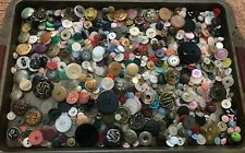 Mixed Lot of Vintage Used Buttons, Over One Pound