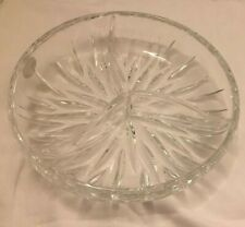 Gorham Star Blossom Crystal Relish Dish Germany 3 Section New Old Stock