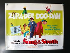 """Song of the South (R1972) - Half Sheet Movie Poster - 22"""" x 28"""" High Grade EX+"""