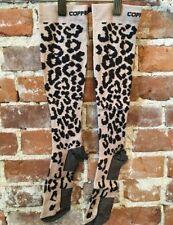 Copper Fit Nude Leopard Knee-High Compression Socks Unisex XXL/XXXL NEW