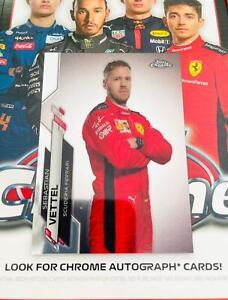 2020 Topps Chrome Formula 1 Racing Sebastian Vettel Scuderia Ferrari Card #3