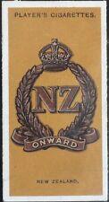 No.16 NEW ZEALAND ONWARD Colonial & Indian Army Badges - John Player 1917