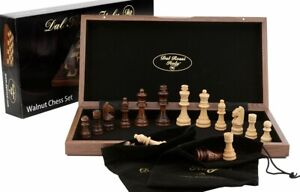 Quality DAL ROSSI Wooden Chess Set 15″ Family Board Game Fathers Day Gift