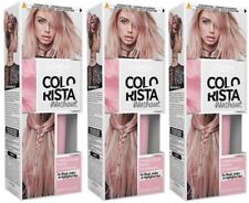 3 x LOreal Colorista Washout Hair Colour | PINK | Temporary Pastel Dye