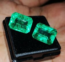 Natural Emerald Loose Gemstone 6 to 7 cts 2 Certified Pair Best Offer