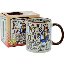 Jesus He-Brews It Mug. Funny Tea Coffee Comedy Cup Kitchen Home Office Gift