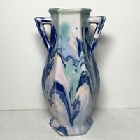 MUELLER Co. End of Day Splatter / Drip Porcelain Vase 6.75 inch HTF