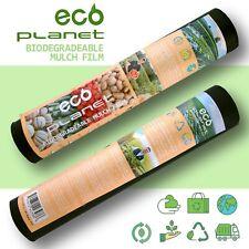 1Mil 2.7ftx 50ft/200ft Black Bio-degradable Plastic Mulch Gardening Farming Film