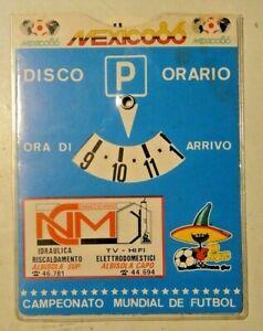 DISCO ORARIO - MEXICO 86 - CAMPIONATO DEL MONDO DI CALCIO - ALBISSOLA ALBISOLA