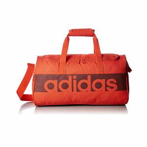 Adidas Unisex Originals Linear Performance Sport Teambag Orange Duffle Gym Bag