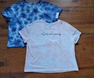 Justice Size 18 Plus Lot Of 2 Tye Dye Tops
