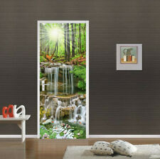 3D Sunshine Forest Self Adhesive Living Room Door Murals Wall Sticker Decor