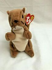 Ty Beanie Babies Nuts Squirrel New