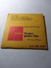 75 x 75 mm Kodak Wratten gelatin filtro 81d no