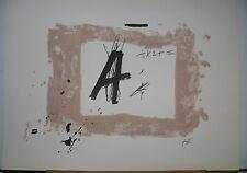 Lithographie Originale d'Antoni  TAPIES .