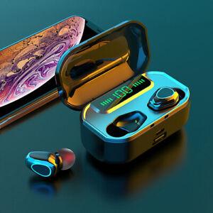 LED Bluetooth 5.0 Headset Wireless Earphones Noise Reduction Earbuds Headphone