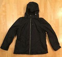 Zeroxposur Woman's Black Ski Coat Size Large Removable Hood